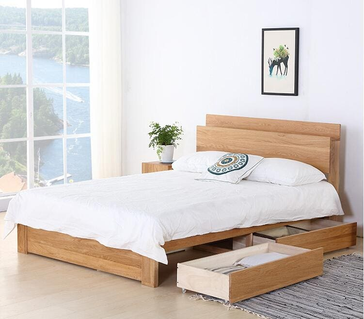 mẫu giường ngủ gỗ đẹp giá rẻ