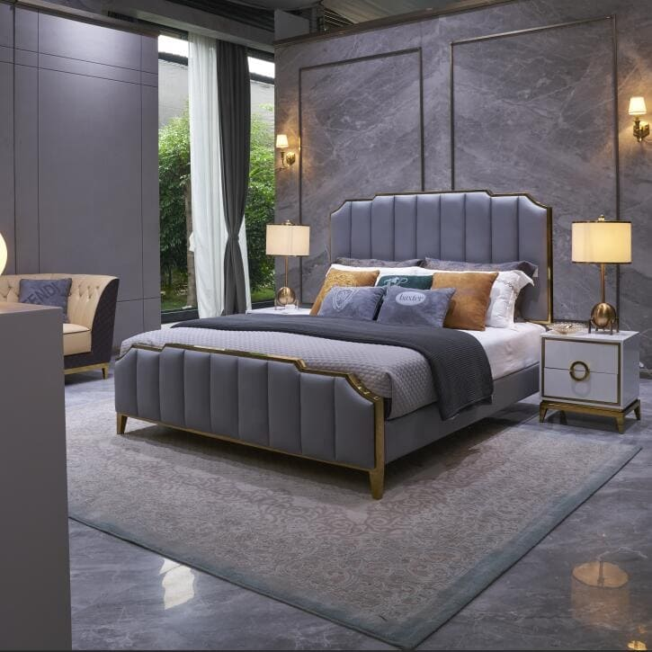 mẫu giường ngủ cao cấp sang trọng hiện đại.
