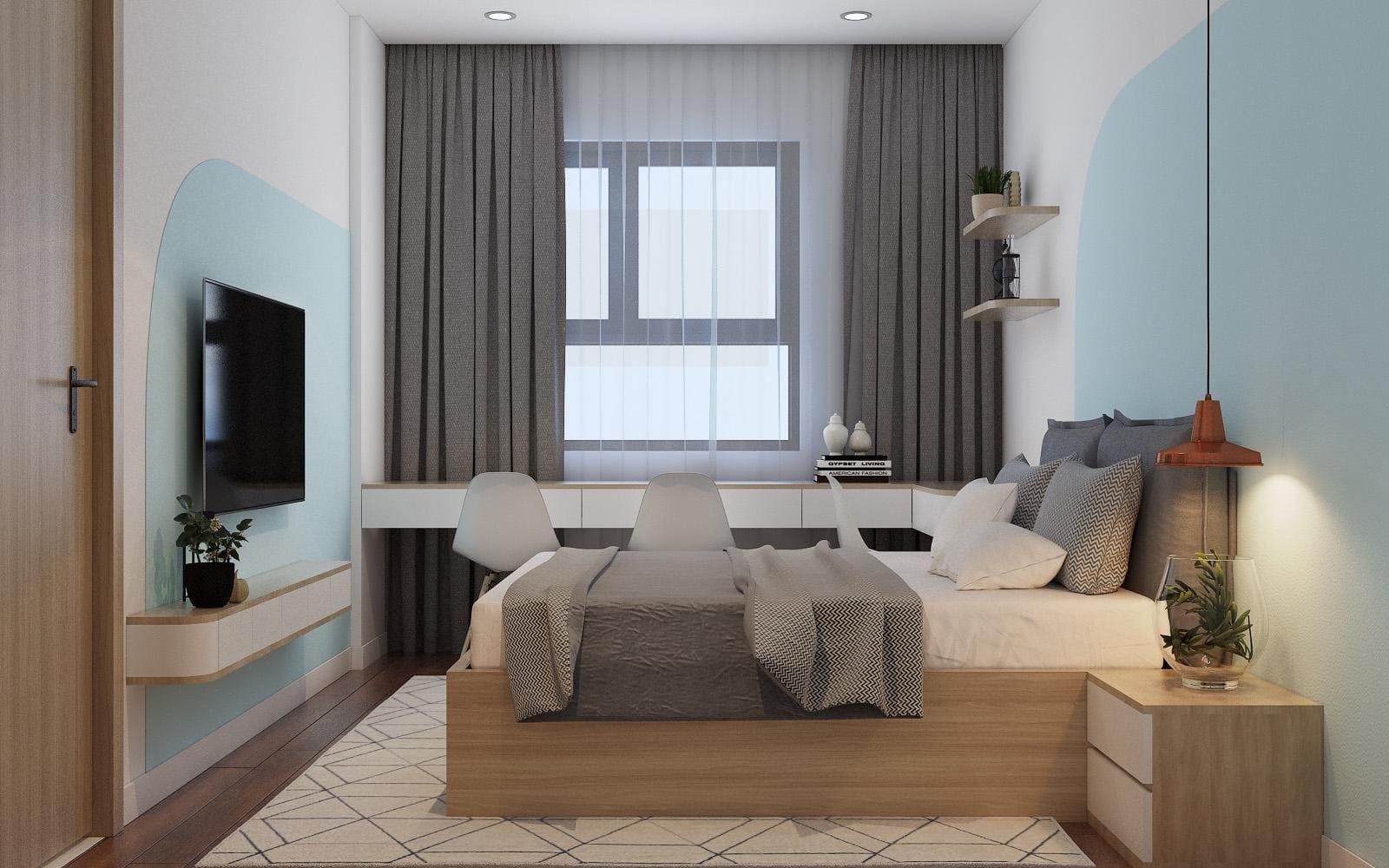 thiết kế nội thất phòng ngủ đơn giản, đẹp giá rẻ