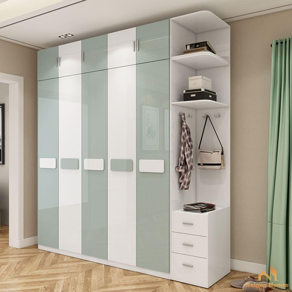 thiết kế tủ quần áo đẹp hiện đại
