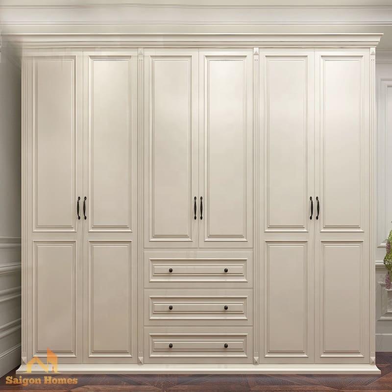 mẫu tủ quần áo đẹp cho căn hộ chung cư tại Tp HCM
