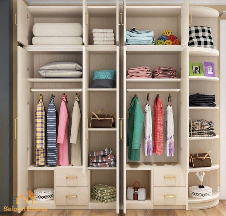 thiết kế tủ quần áo đẹp