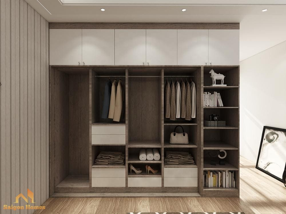 Tủ quần áo gỗ công nghiệp cho căn hộ chung cư